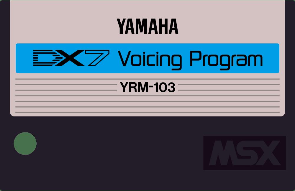 Yamaha YRM103 DX7 Voicing cartridge