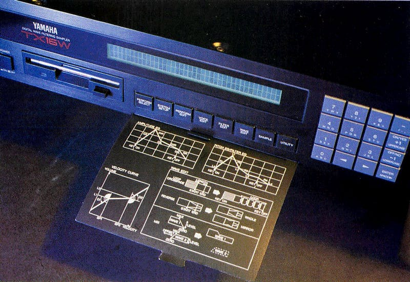 TX16W detail on Music Technology, May 1988