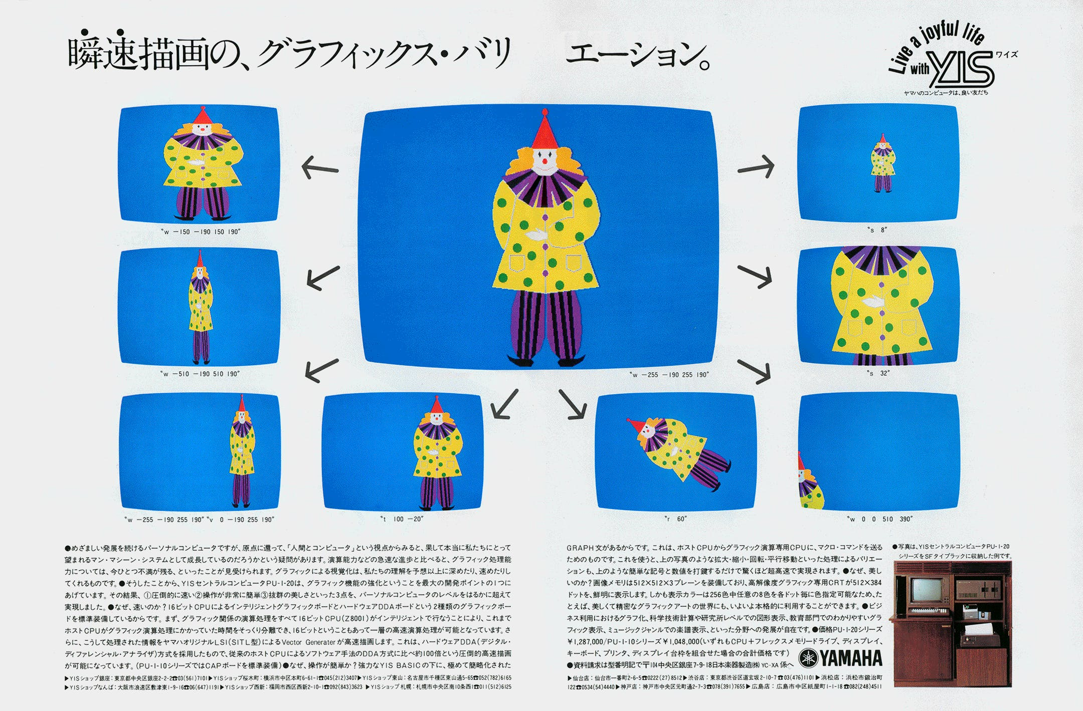 Yamaha YIS advertisement ASCII japan 8 1982
