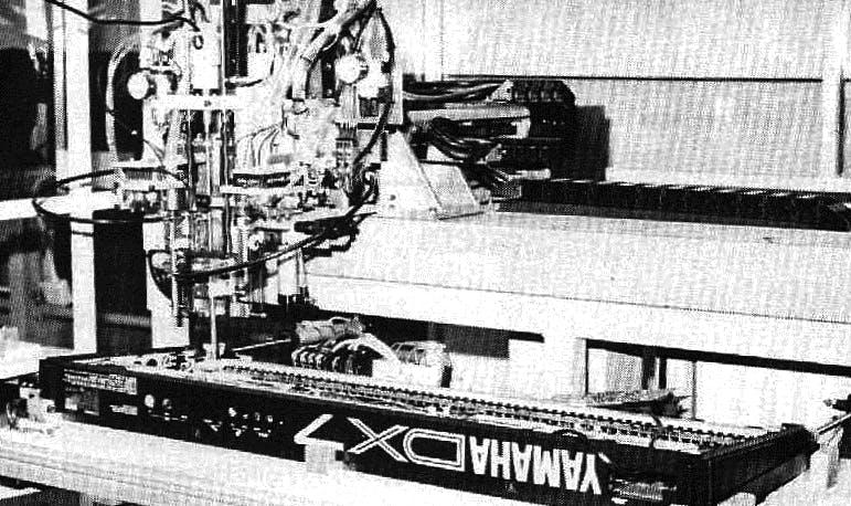Yamaha Nishiyama factory DX7II assembly