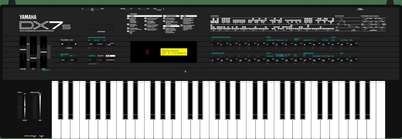 Yamaha DX7s DX7 synthesizer