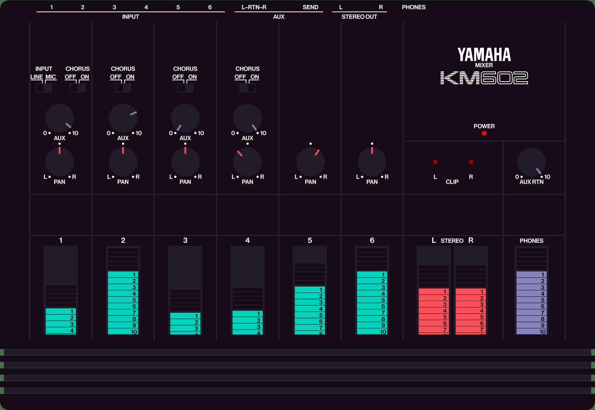 Yamaha KM602 mixer chorus