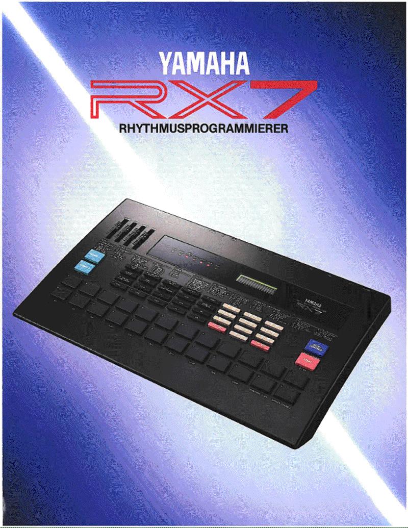 Yamaha RX7 brochure