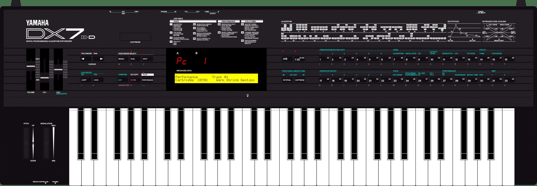 Yamaha DX7II-D synthesizer