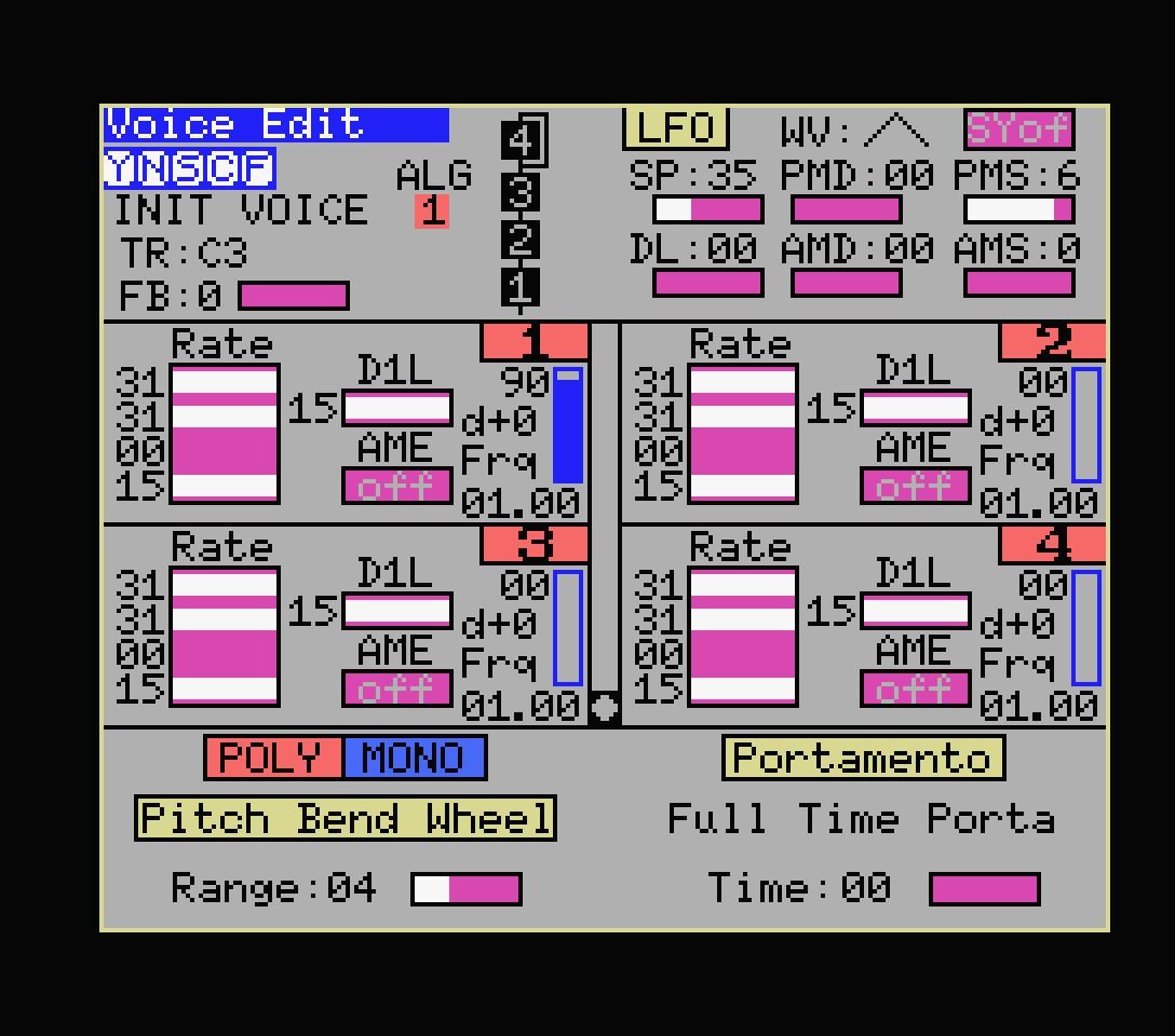 Yamaha YRM305 editor 1