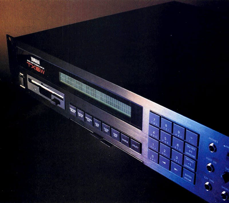 TX16W on Music Technology, May 1988