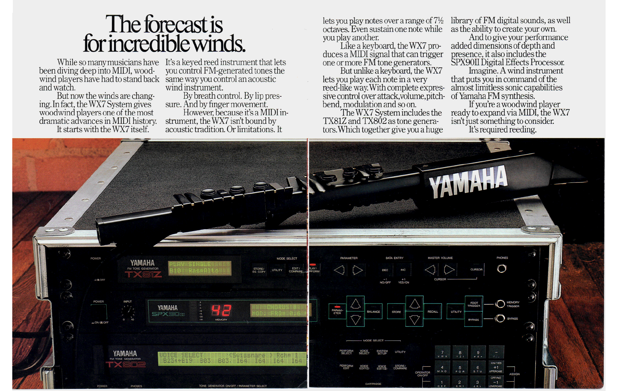 Yamaha digital music systems brochure WX7 TX81Z TX802 pdf