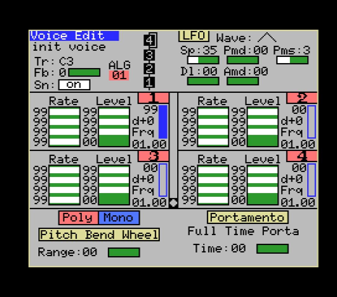 Yamaha YRM103 editor 1