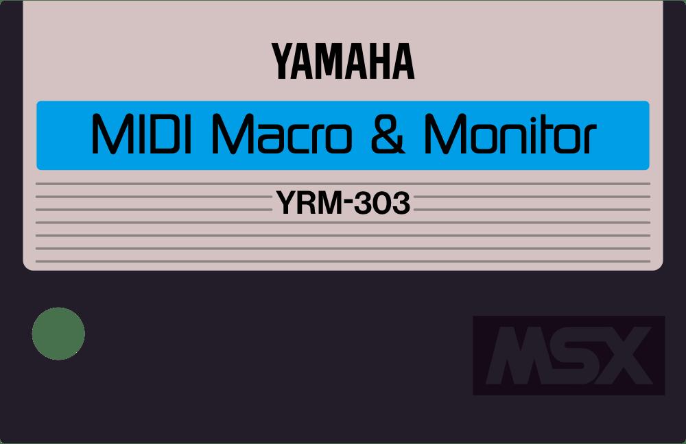 Yamaha YRM303 YRM33 MIDI macro cartridge