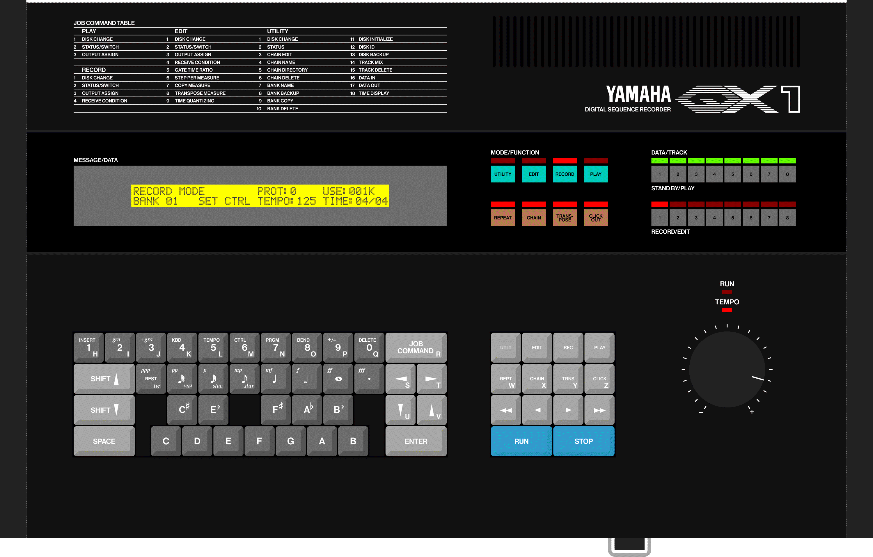 Yamaha QX1 80s sequencer