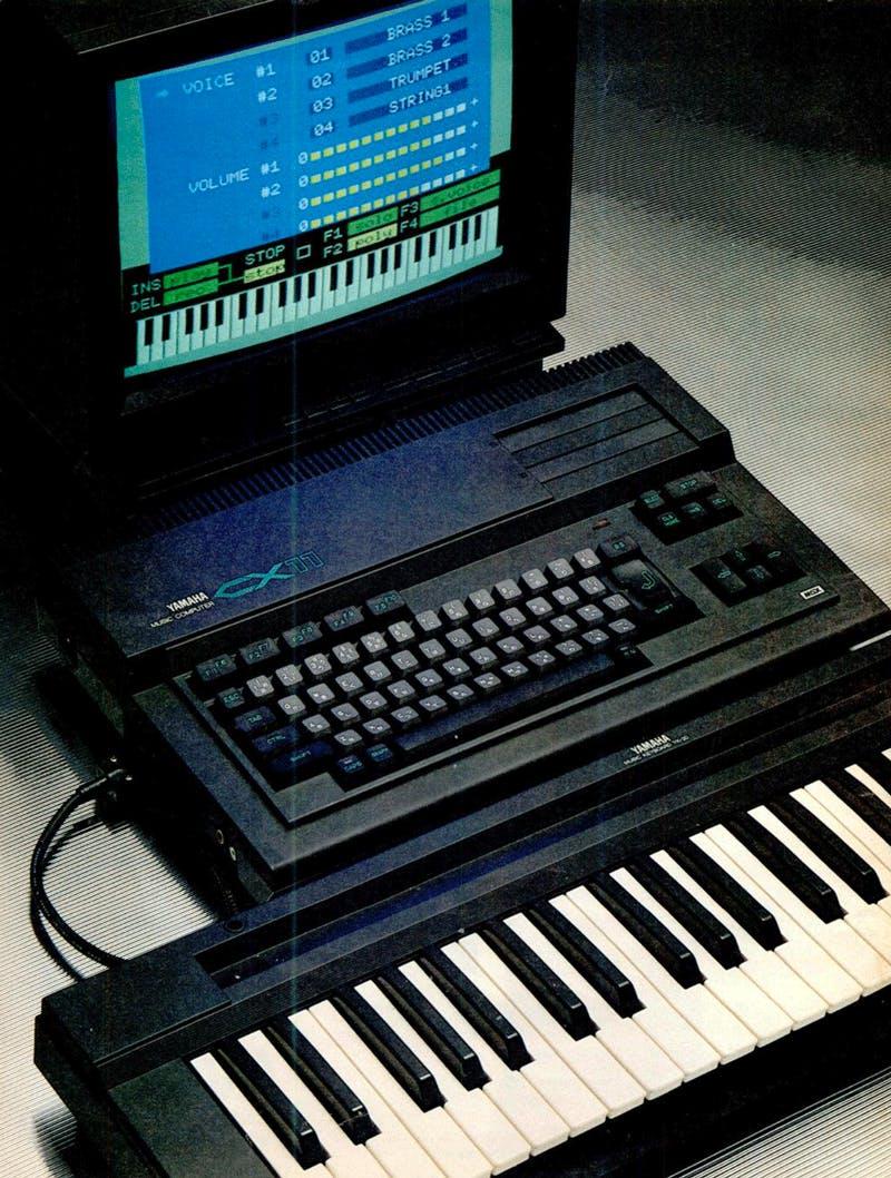 Yamaha CX11 with YK20 keyboard