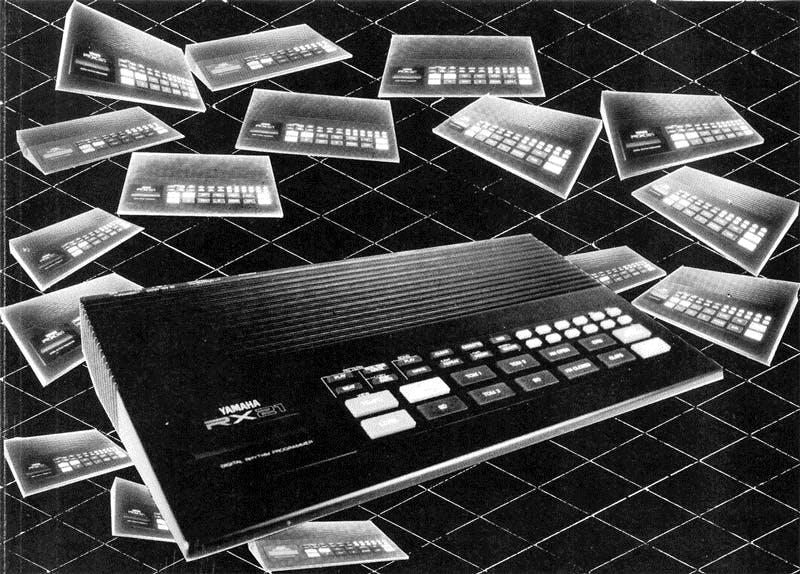Yamaha RX21 on Electronics & Music Maker, Sep 1985