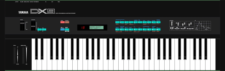 Yamaha DX9 80s synthesizer