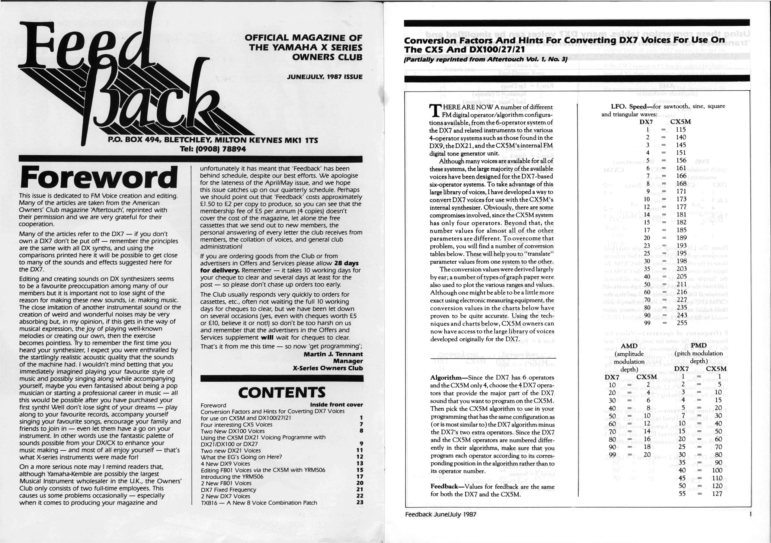 Yamaha X-Seriew Owner Club Feedback 1987 2 pdf