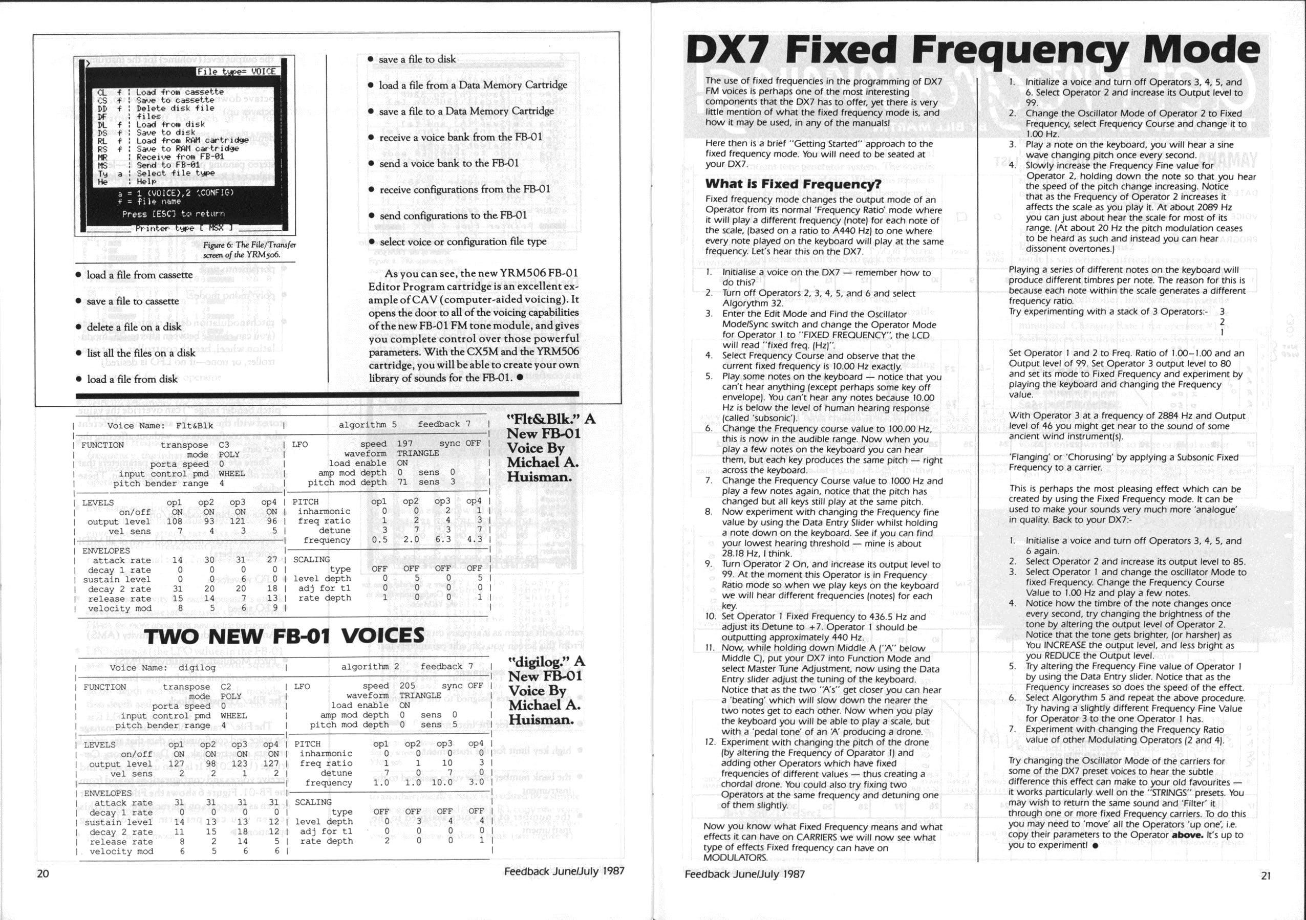 Yamaha X-Seriew Owner Club Feedback 1987 3 pdf