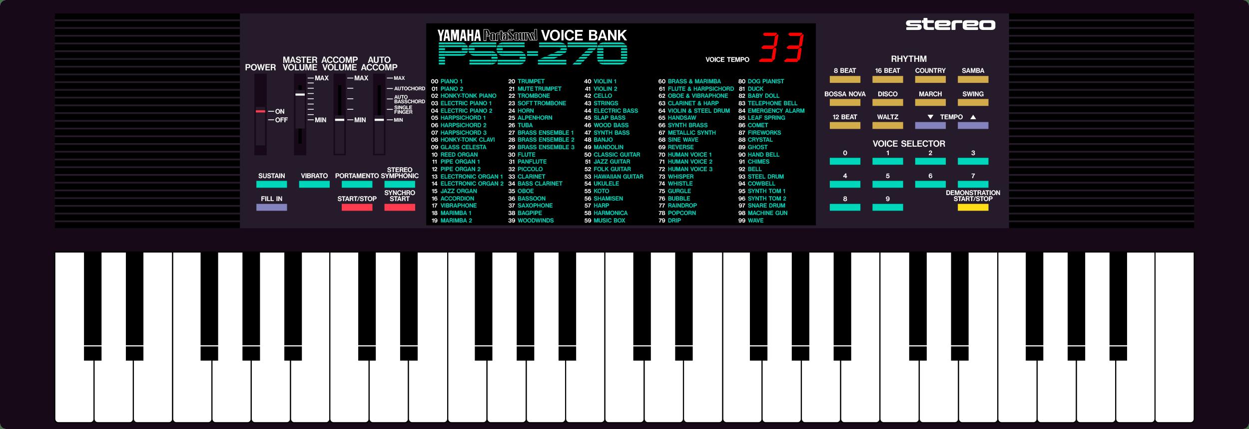 Yamaha Portasound PSS-270