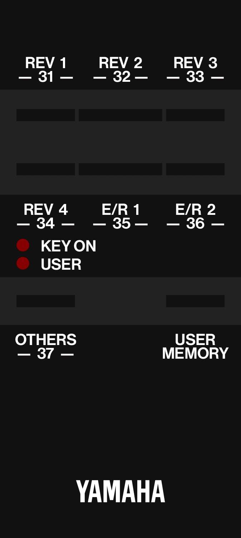 Yamaha RC5 remote control for REV SPX