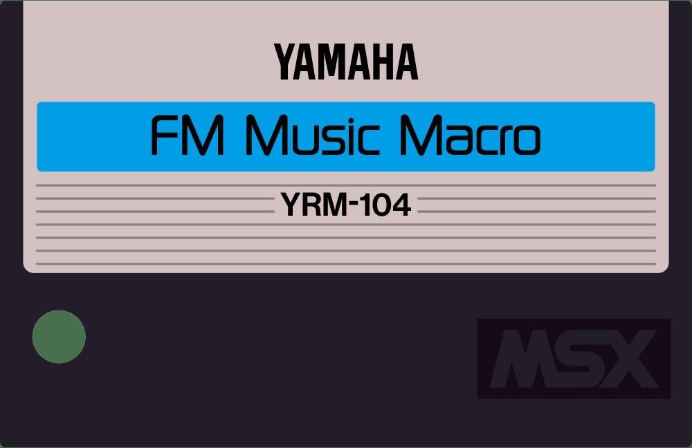 Yamaha YRM11 YRM104 MSX cartridge