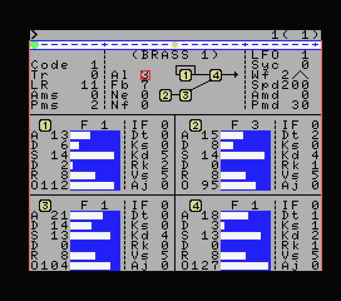Yamaha YRM502 voice editing