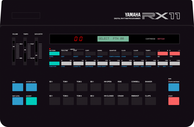 Yamaha RX11 vintage drum machine