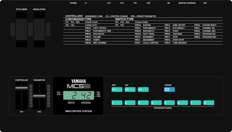 Yamaha MCS2 midi control station