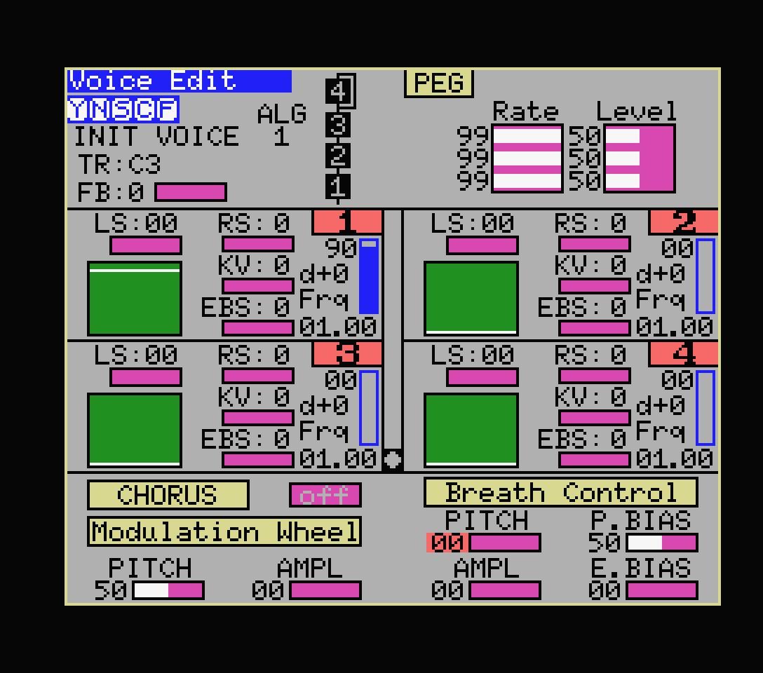 Yamaha YRM305 editor 2