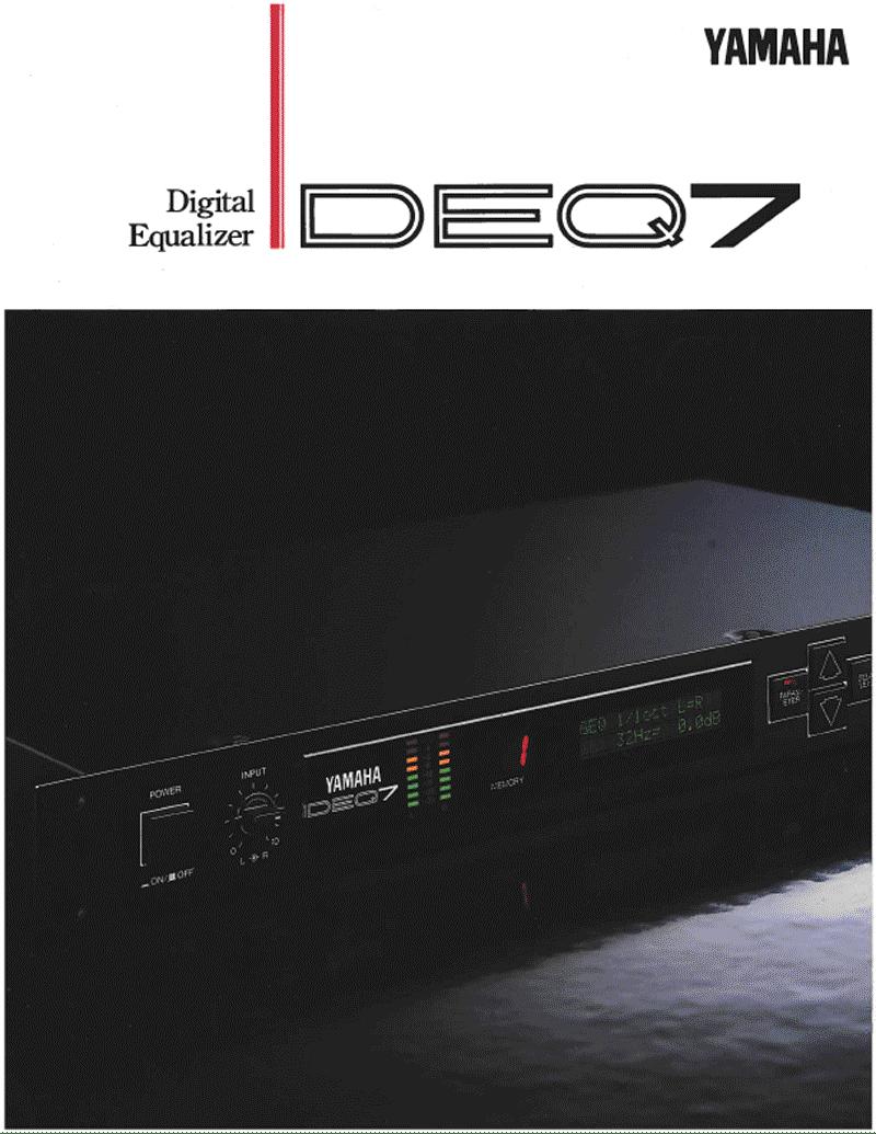 Yamaha DEQ7 rack equalizer brochure
