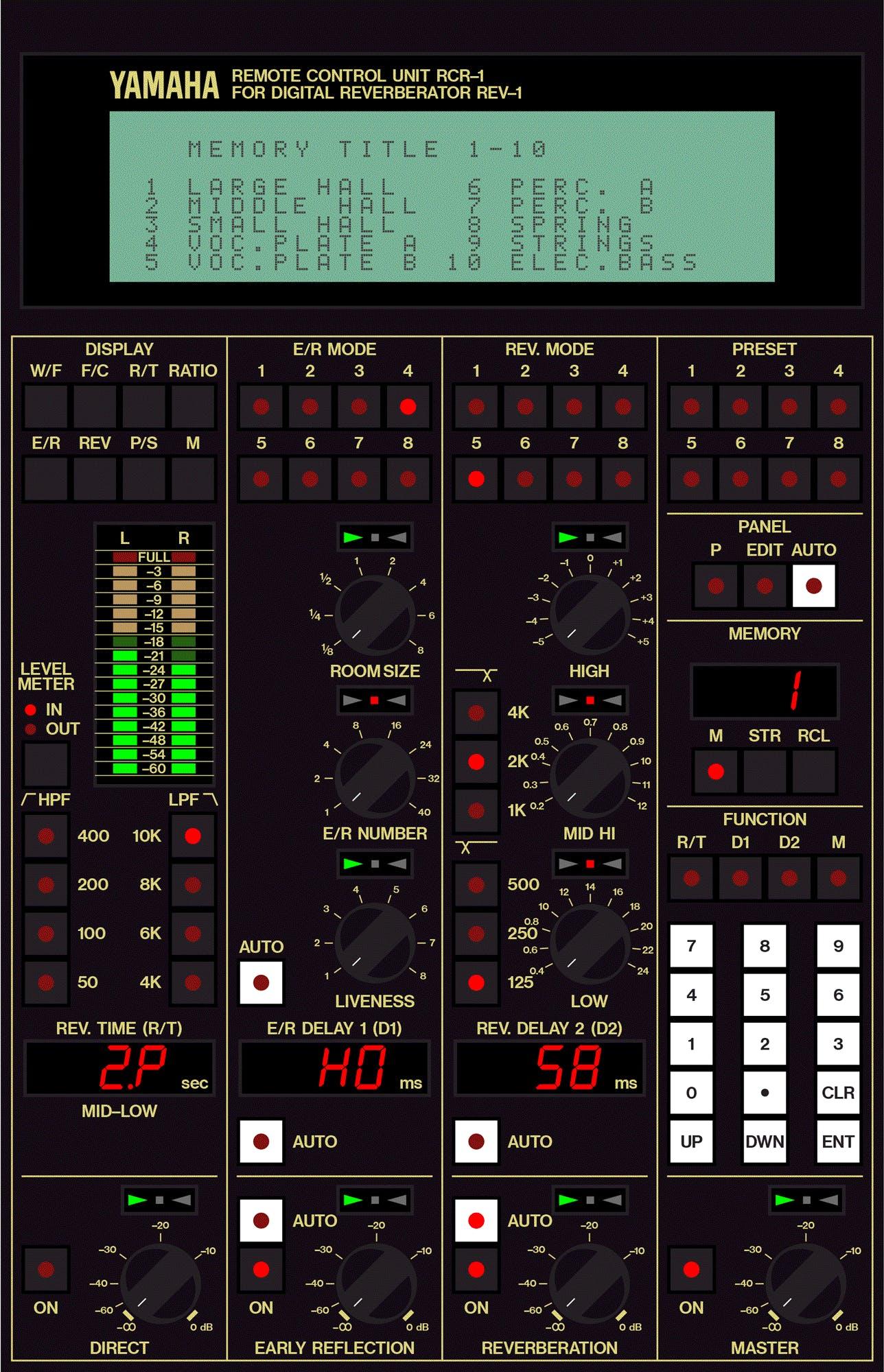 Yamaha RCR1 remote control for REV1