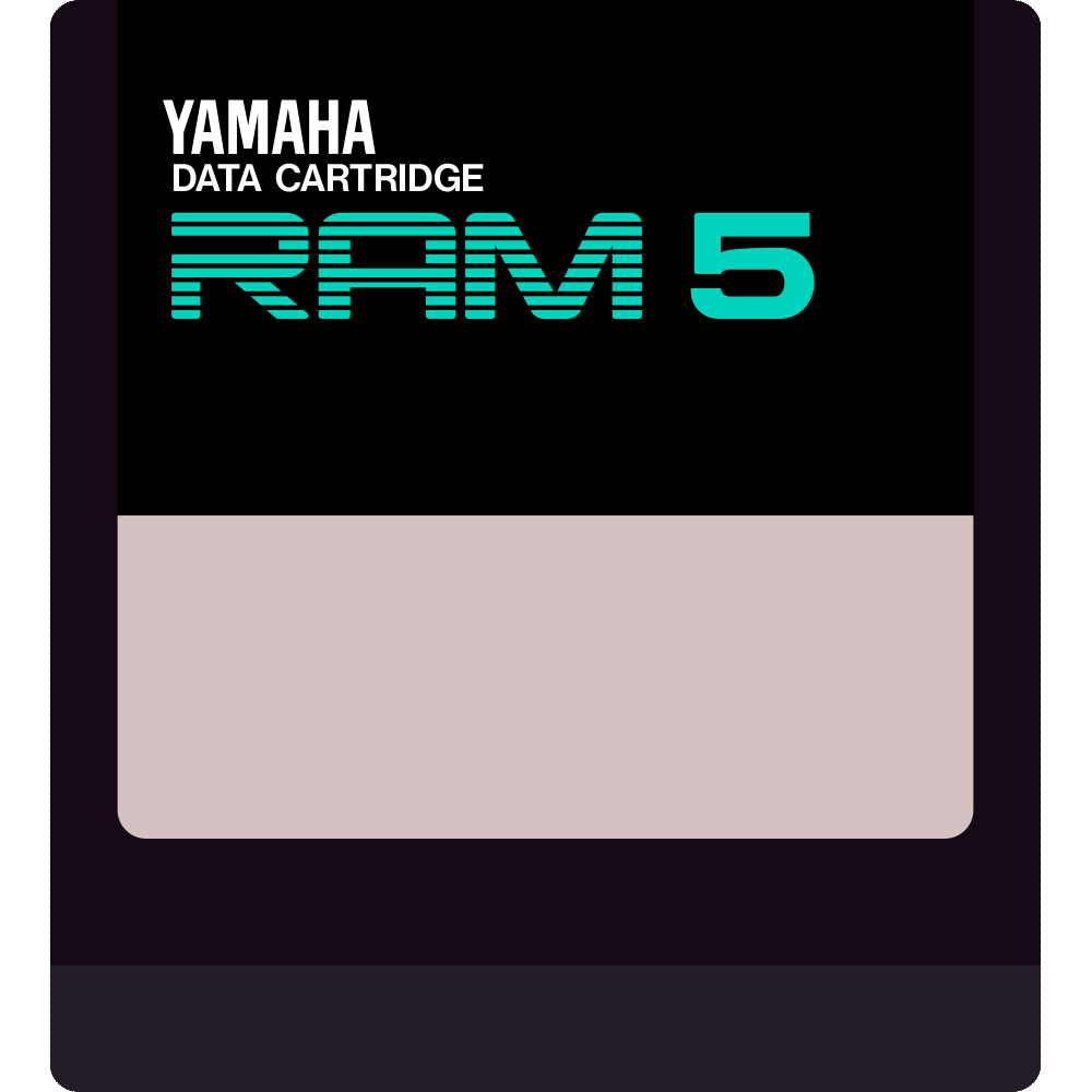 Yamaha RAM5 RAM4 DX7II RX5 cartridge
