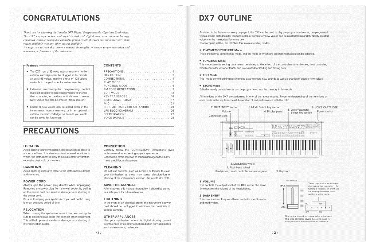 Yamaha DX7 how to manual pdf booklet