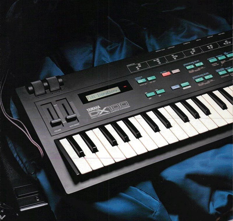Yamaha DX100 brochure