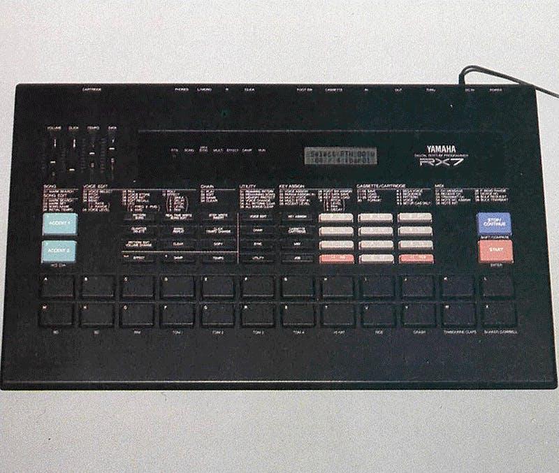 Yamaha RX7 on Music Technology, Feb. 1988