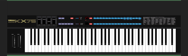 Yamaha KX76 MIDI controller keyboard