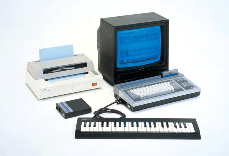 YIS503 with the YK01 keyboard and the PN01 printer