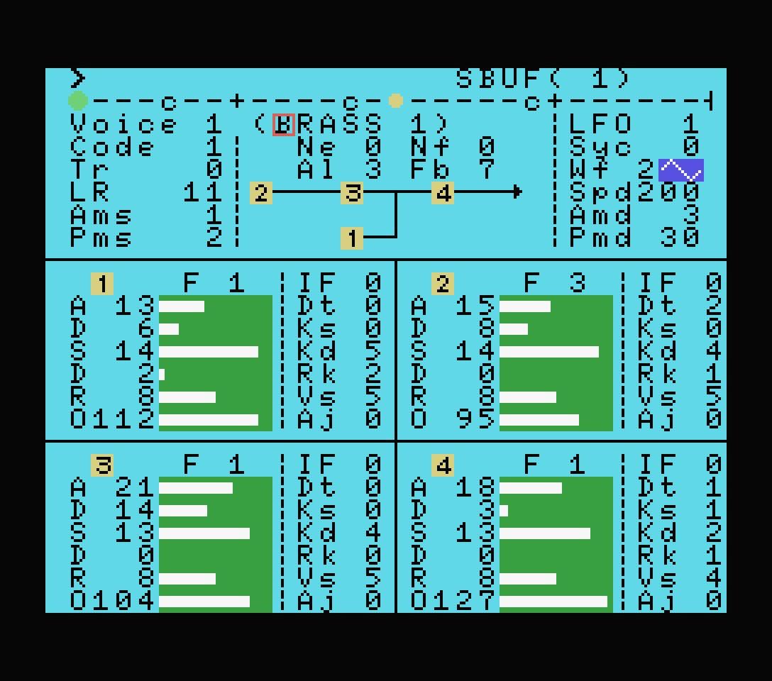 Yamaha YRM102 voice editor