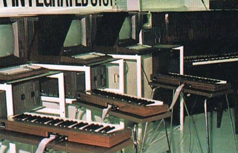 Yamaha YIS MK1 keyboards on display