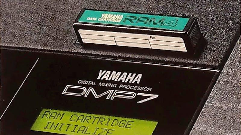 Yamaha RAM4 cartridge in a DMP7
