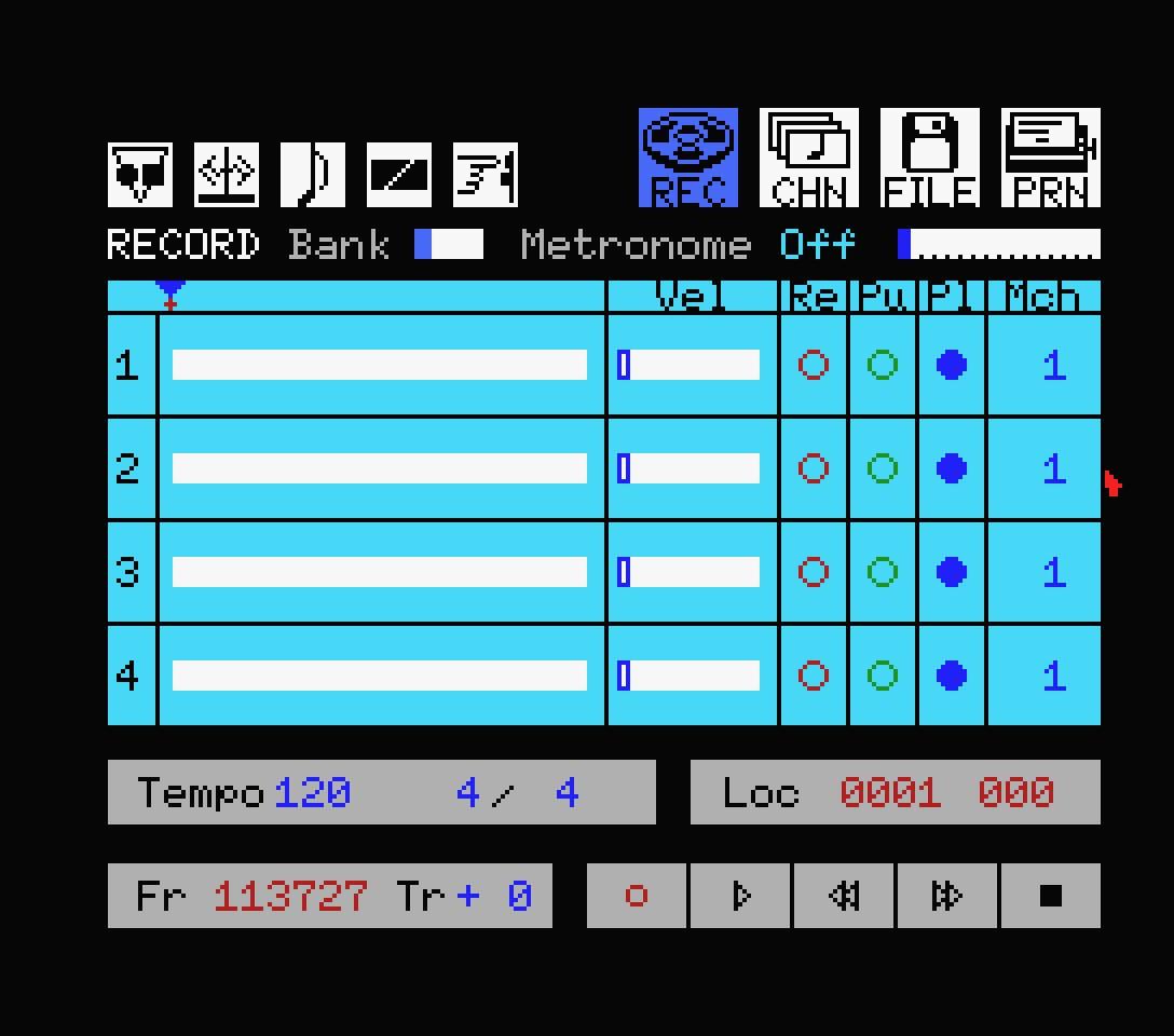 Yamaha YRM301 record screen