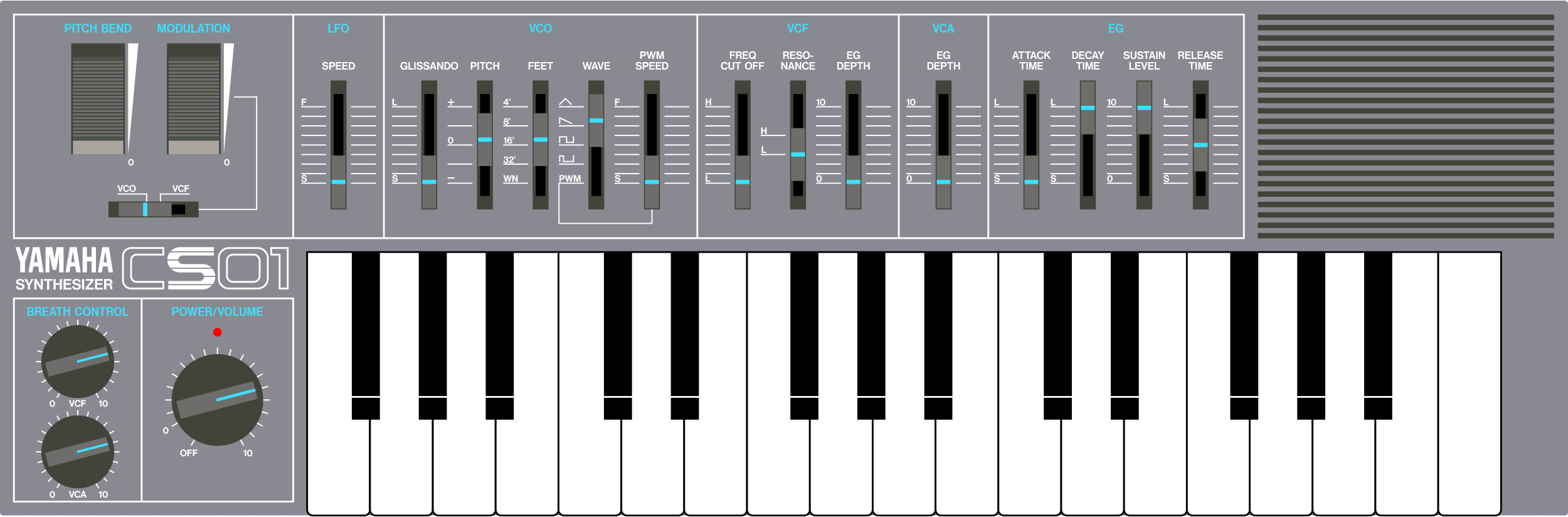 Yamaha CS01 analog micro synthesizer