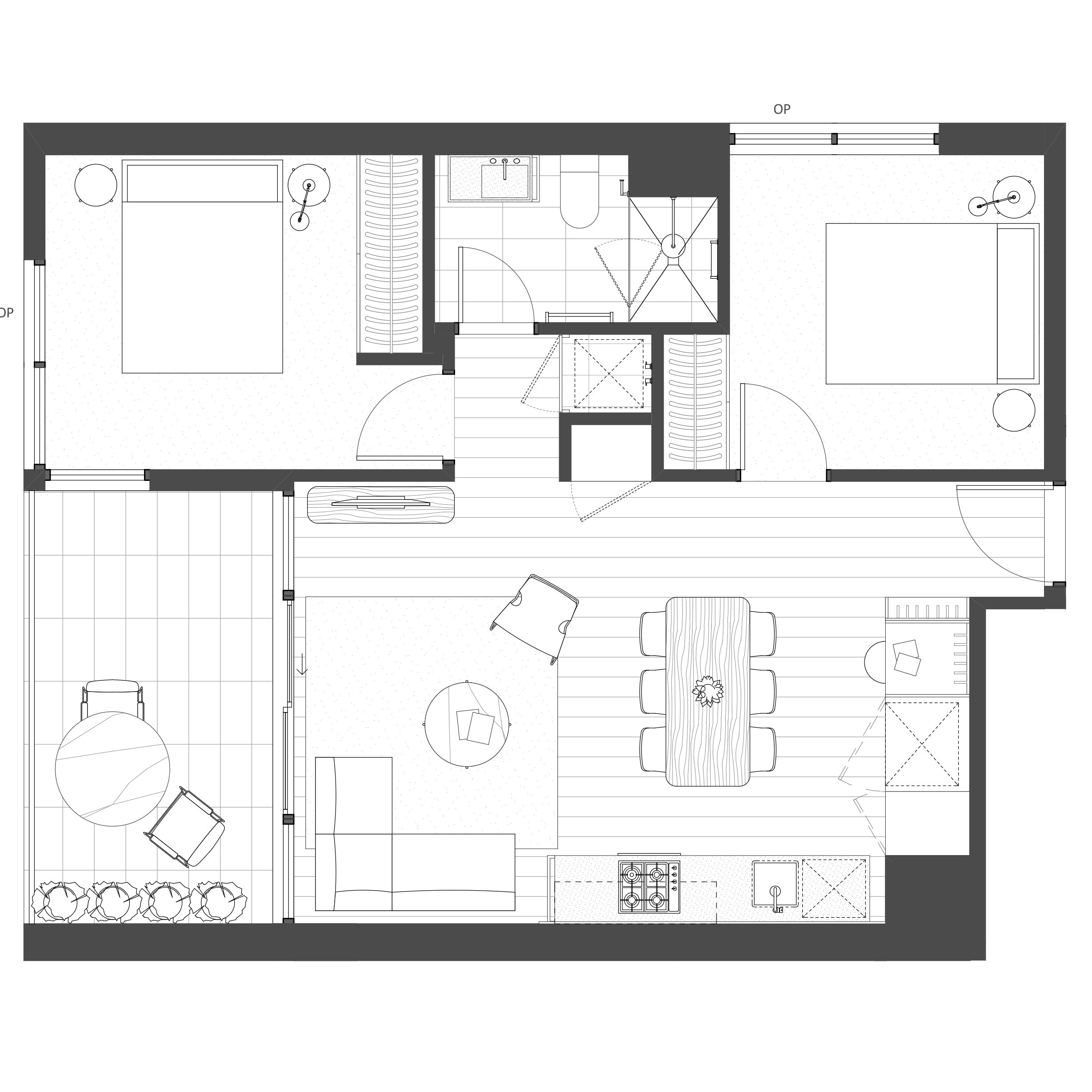 2 Bedroom, 1 Bathroom, 1 Carpark