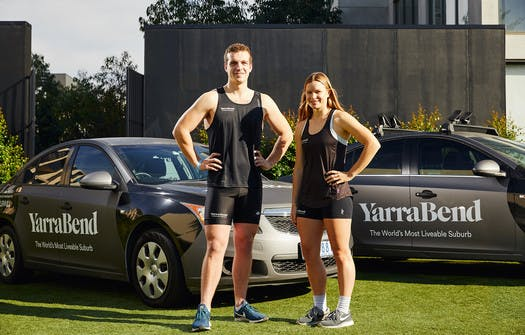 YarraBend's newest ambassadors – Hannah Scott and Logan Dutton