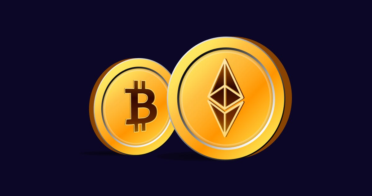 Ethereum versus Bitcoin price