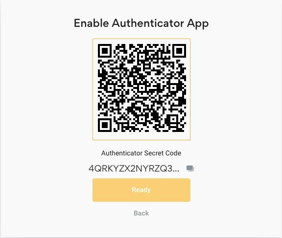 enable 2fa on your account