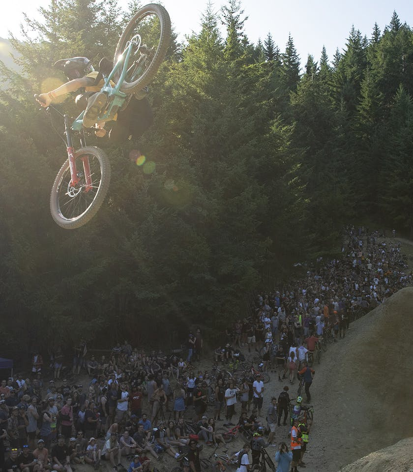 Reed Boggs floating a whip on the Dream Track during McGazza Fest 2020