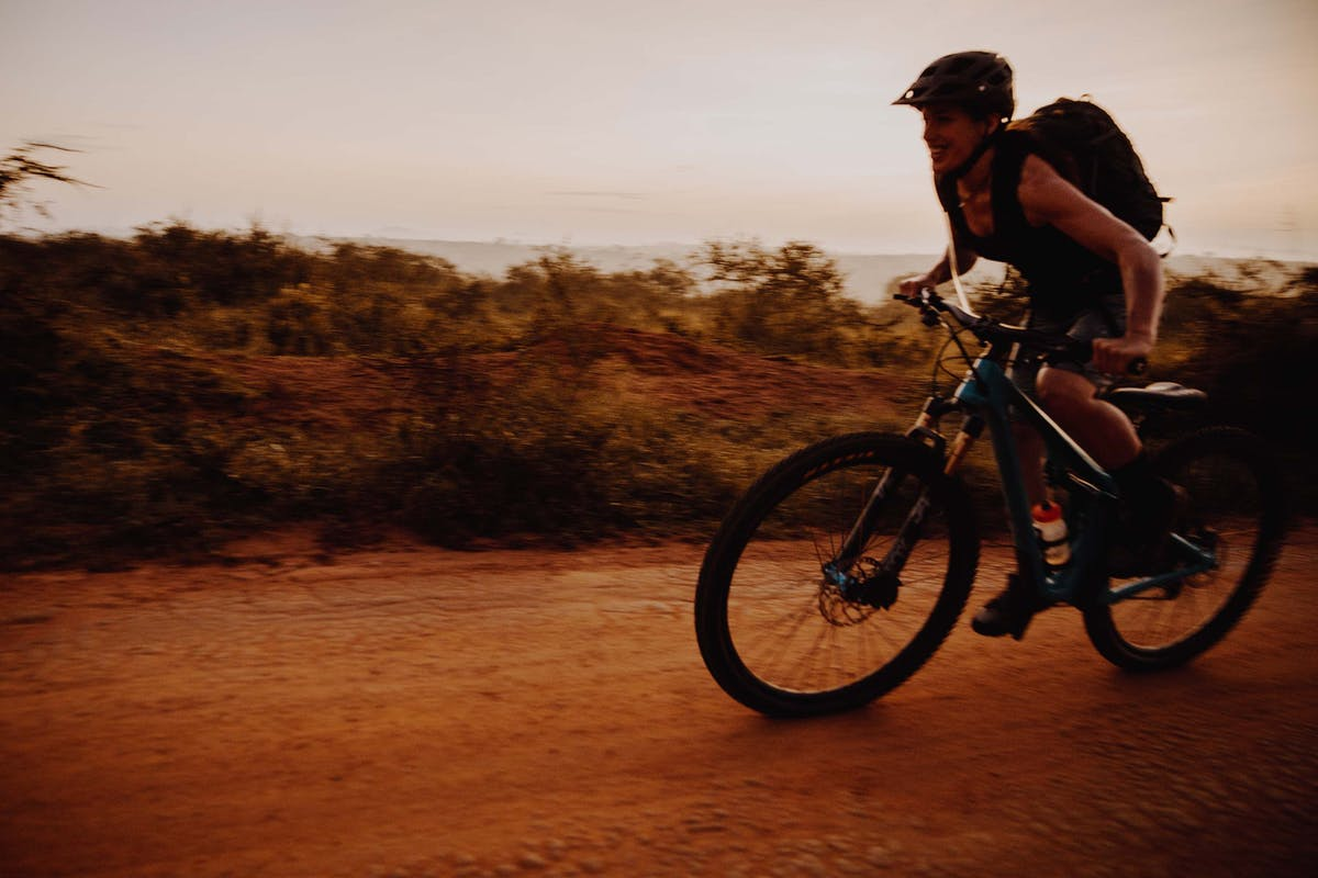 Nichole Baker riding in Uganda