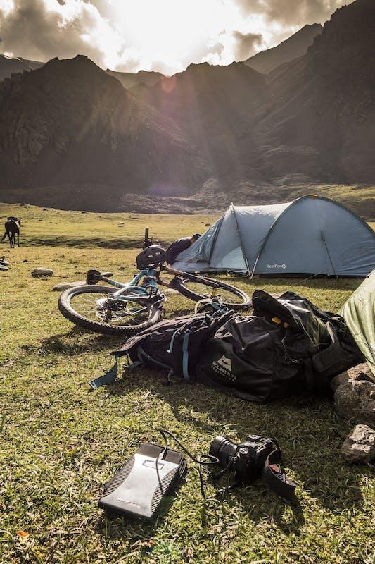 Dan Milner's camp site