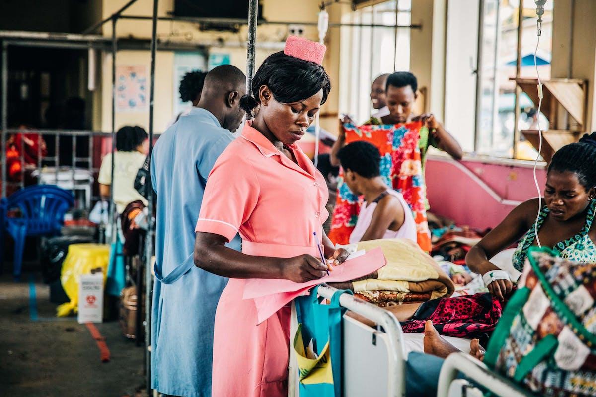 Uganda healthcare worker