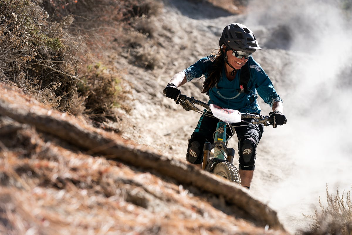 Megan Rose between the tape at the Yakru Enduro