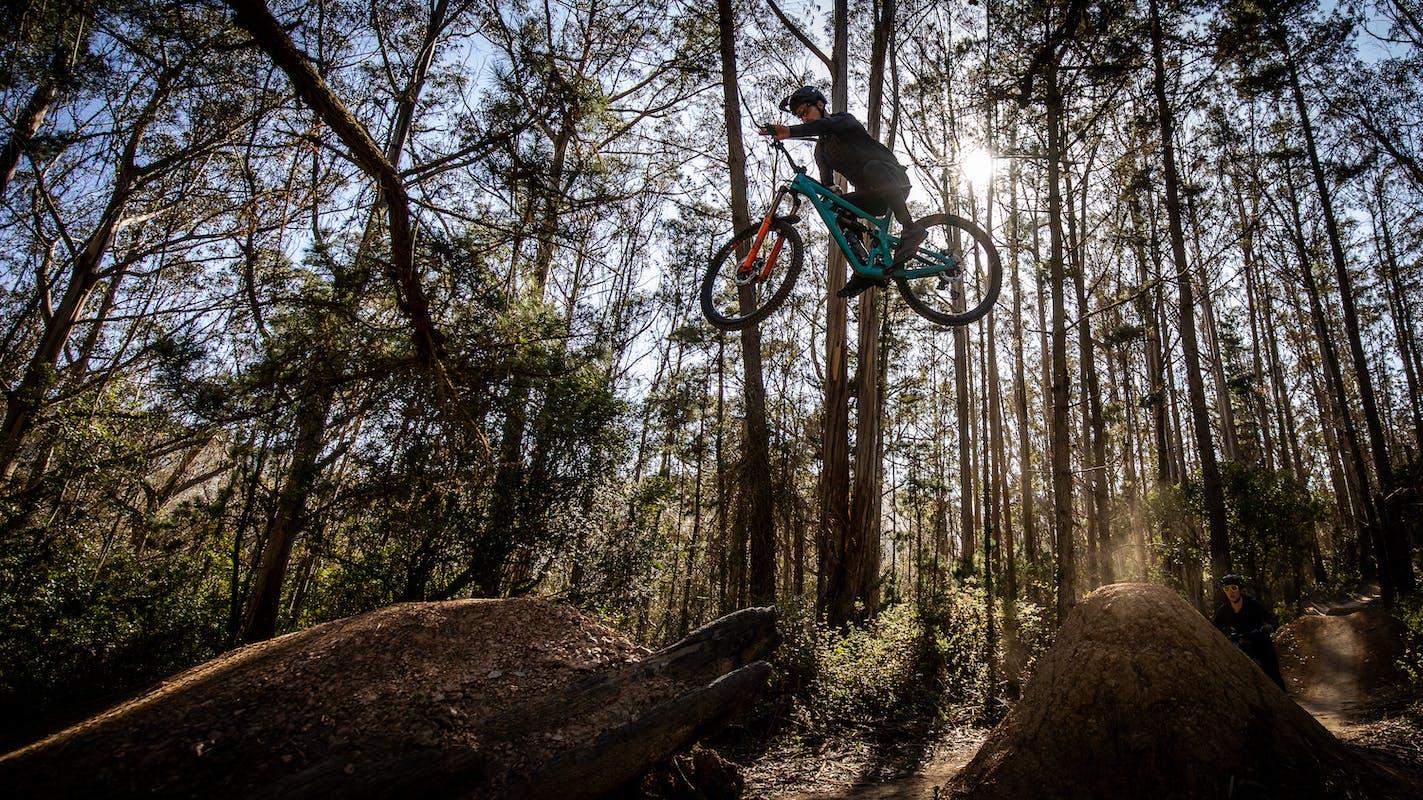 Jubal Davis on the dirt jumps