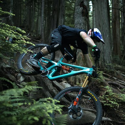 Richie Rude aboard to SB165 in a lush forest